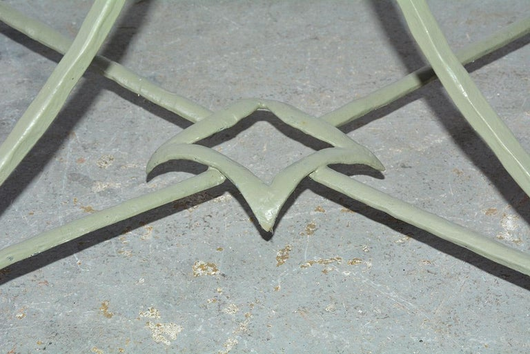 Onyx and Metal Base Side Table For Sale 3