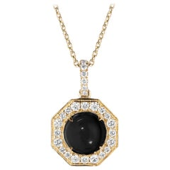 Goshwara Onyx Cabochon And Diamond Pendant