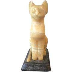 Onyx Cat Sculpture
