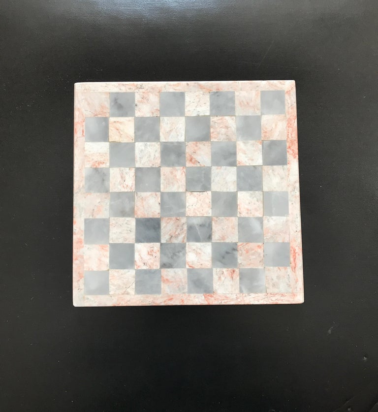 Small onyx gameboard or chessboard. Fantastic tabletop decorative item.