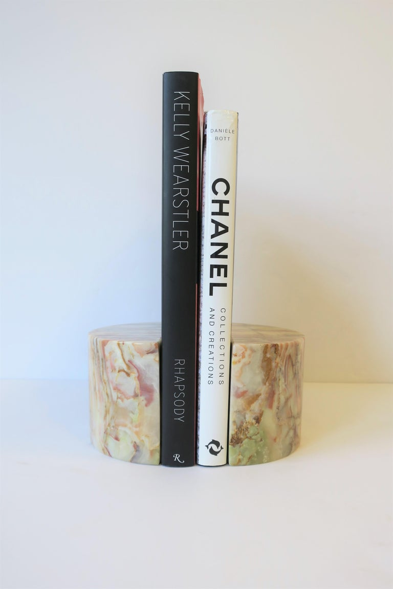 Onyx Marble Bookends For Sale 3