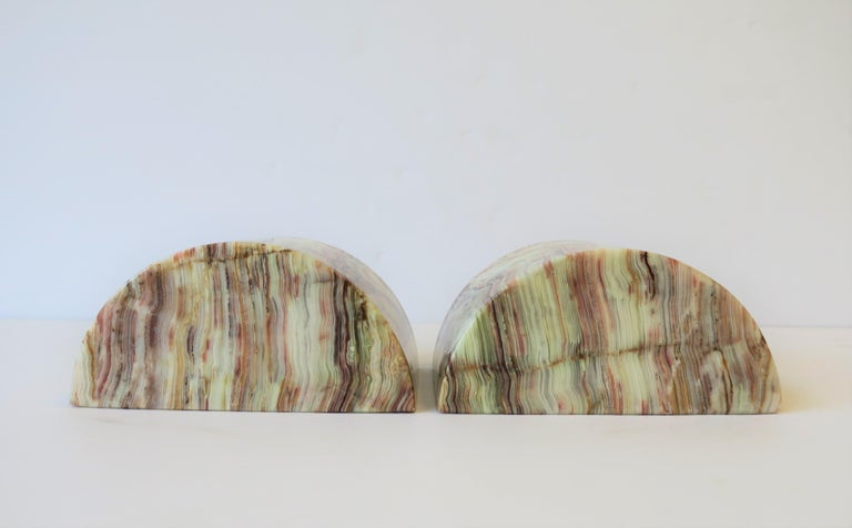 Onyx Marble Bookends For Sale 4