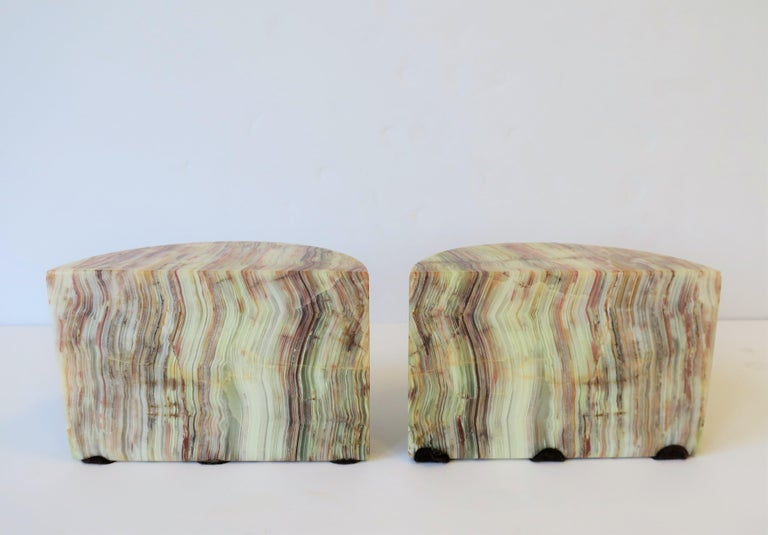 Onyx Marble Bookends For Sale 5