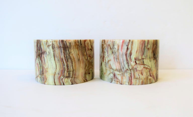 Modern Onyx Marble Bookends For Sale
