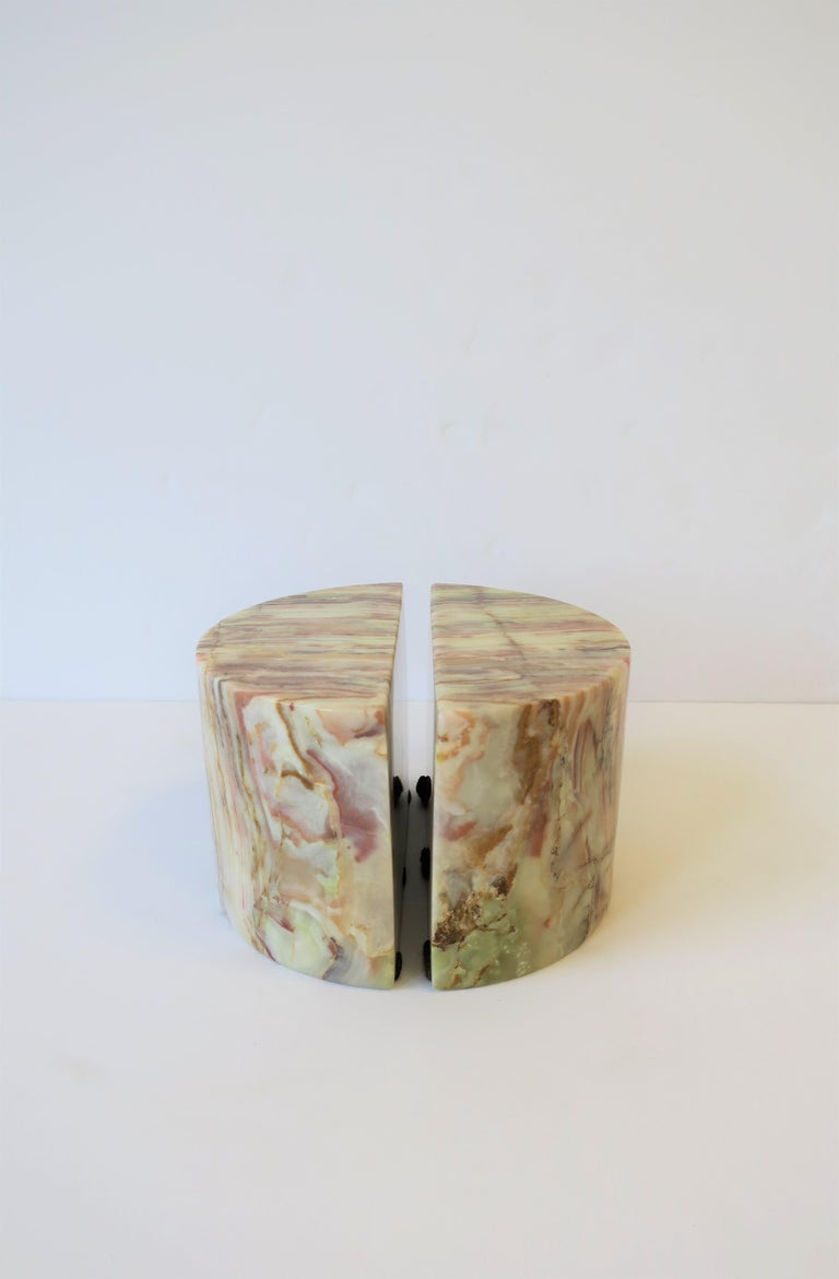 20th Century Onyx Marble Bookends For Sale