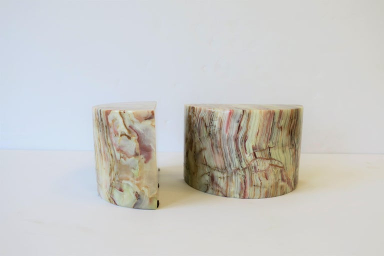 Onyx Marble Bookends For Sale 1