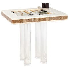 Onyx Marquetry Backgammon Table