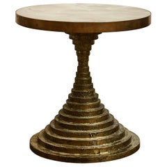 Bronze Pedestal Table by Studio Glustin