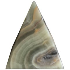 Onyx Pyramid Decorative Tabletop Object