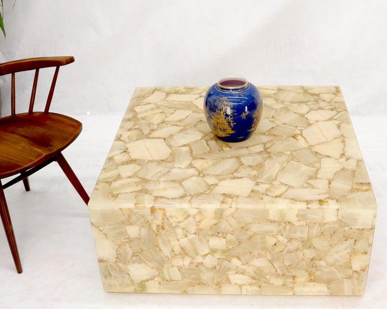 Sleek Mid-Century Modern square cube shape coffee table.