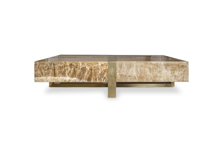 Onyx Stone Coffee Table by Studio Glustin In New Condition For Sale In Saint-Ouen (PARIS), FR