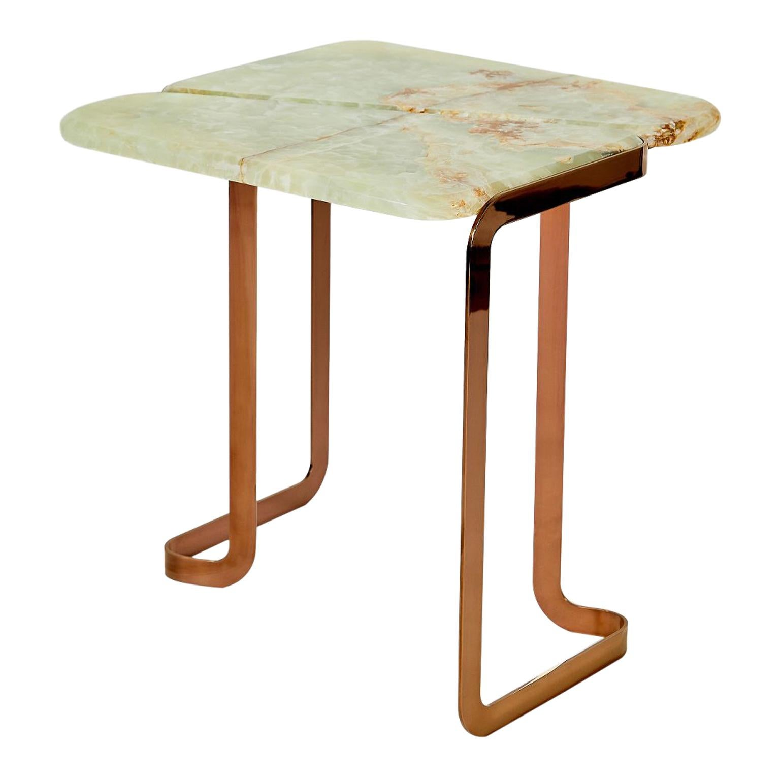 Onyx Tigris Side Table Onyx by Marble Balloon
