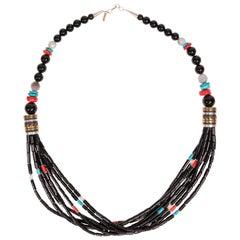 Onyx Tommy Singer Multi-Strand Necklace