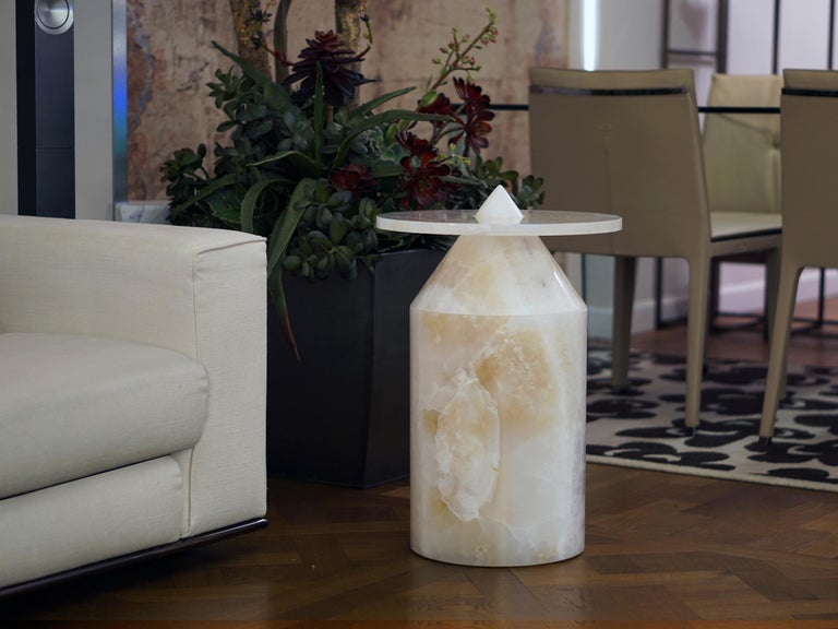 Onyx Totem Coffee Table, Limited Edition by Karen Chekerdjian For Sale 3