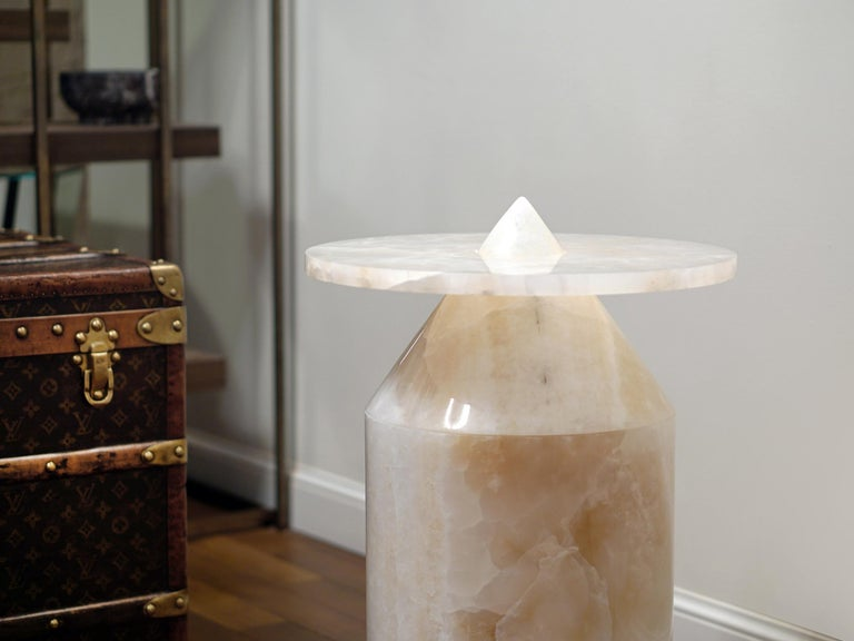 Onyx Totem Coffee Table, Limited Edition by Karen Chekerdjian For Sale 5