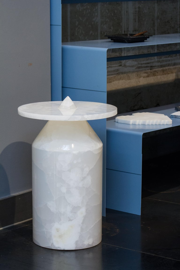 Contemporary Onyx Totem Coffee Table, Limited Edition by Karen Chekerdjian For Sale