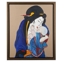 Oosterbeek, Japanese Woman with Child, France, 2010
