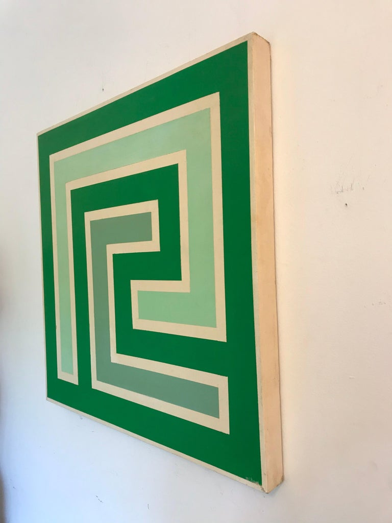 Op Art Hard-Edge Painting, 20th Century For Sale 3