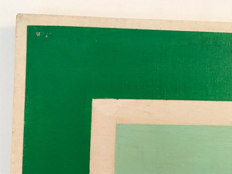 Op Art Hard-Edge Painting, 20th Century In Good Condition For Sale In Los Angeles, CA