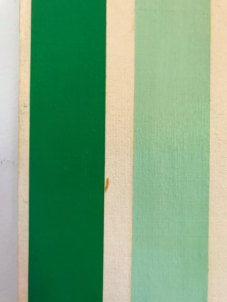 Canvas Op Art Hard-Edge Painting, 20th Century For Sale