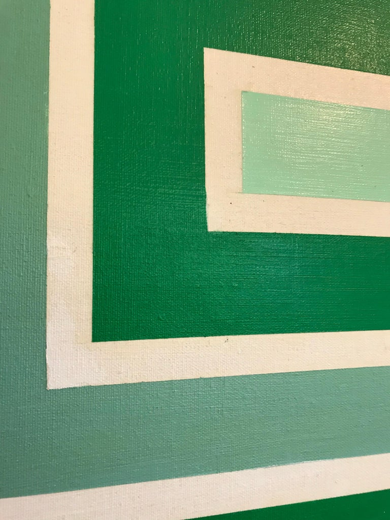Op Art Hard-Edge Painting, 20th Century For Sale 2