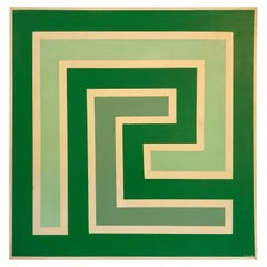 Op Art Hard-Edge Painting, 20th Century