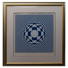 Op Art Silk Screen Vasarely
