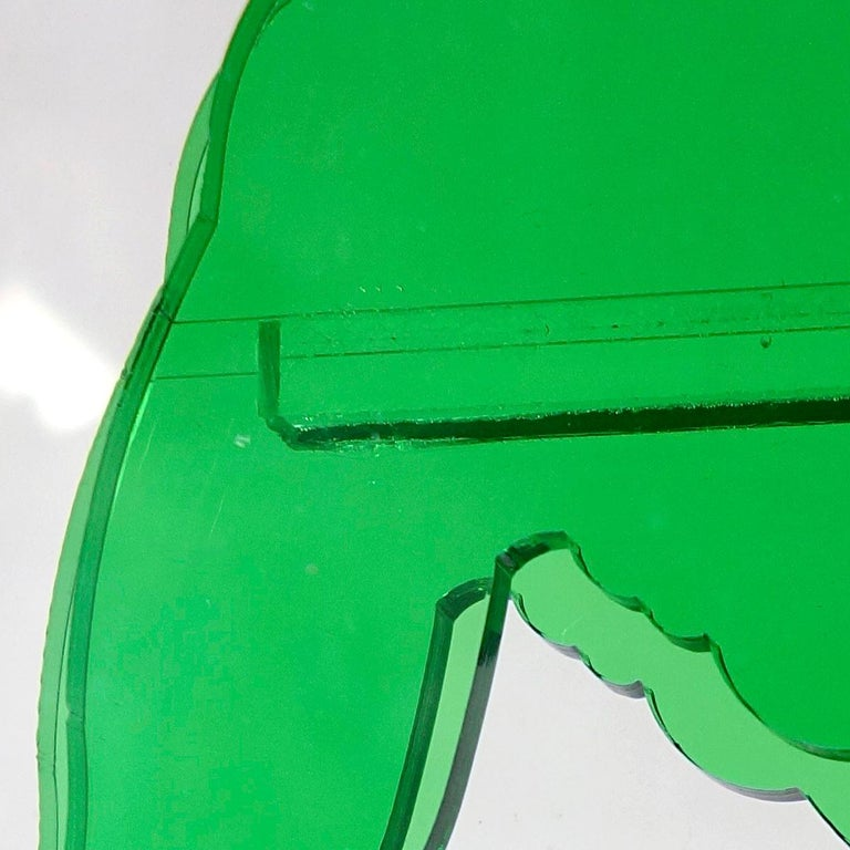 Op-Art Style Green Plexiglass Ostrich Made by Gino Marotta For Sale 1