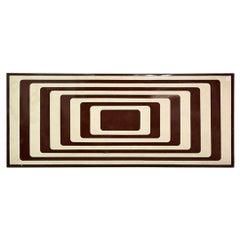 Op-Art Vintage Enamel Sign in the Manner of Vasarely, 1960s