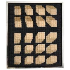 Op Art Needlepoint Decor