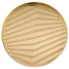 OP Small Serving Platter Gold