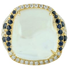 Opal 18 Karat Gold Diamond Ring