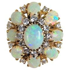 Opal and Diamond Brooch in 18 Karat Gold