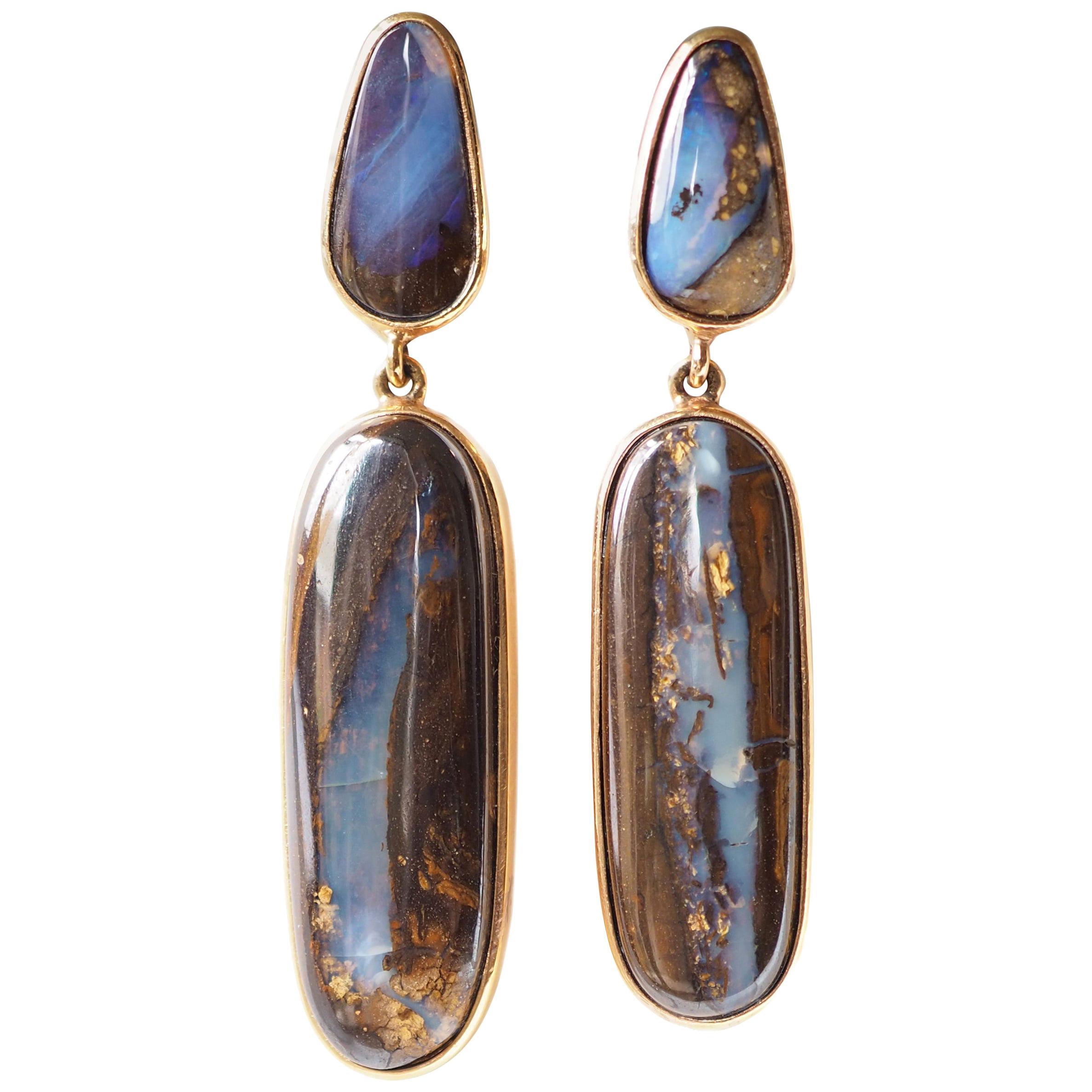 Opal Australian Opal Bronze Earrings