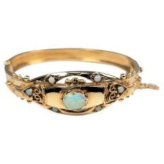Opal Bangle in 14 Karat Gold