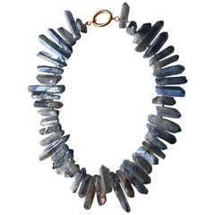Opal Crystal Blu Rock Necklace