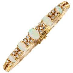 Opal Diamond Yellow Gold Bracelet