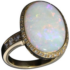 Opal Diamonds 18 Karat Rose Gold Ring