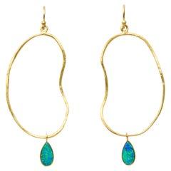 Opal Drop Oyster Earrings