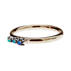Opal Gold Ring Silver Prong Victorian Style Cocktail Ring J Dauphin