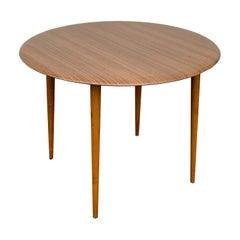 Opal Kleinmöbel Midcentury Resin and Wood German Round Coffee Table, 1960s