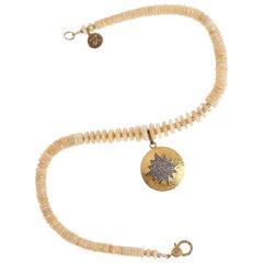 Opal Magic Pave Diamond Necklace
