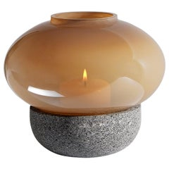Opal Olive Brown Aurora Vigil Medium Candle Lamp