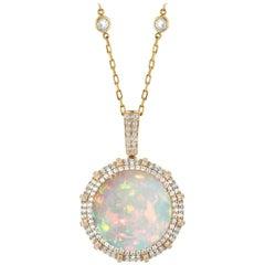 Goshwara Opal And Diamond Pendant