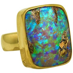 Opal Ring in 22 Karat, 18 Karat Gold, Jennifer Kalled
