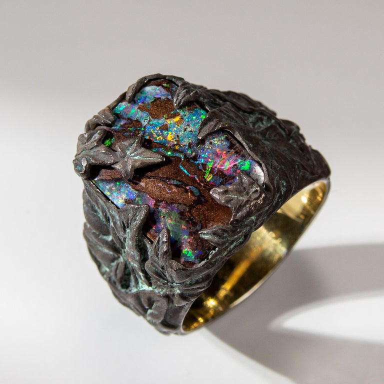 Opal Ring Gold Plated