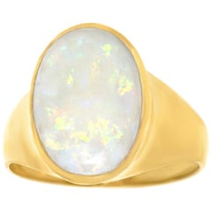 Opal-Set Gold Ring