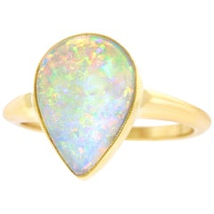 Opal Set of Gold Ring