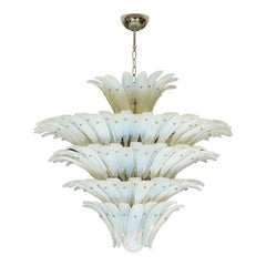 Opalescent Murano Palm Frond Chandelier