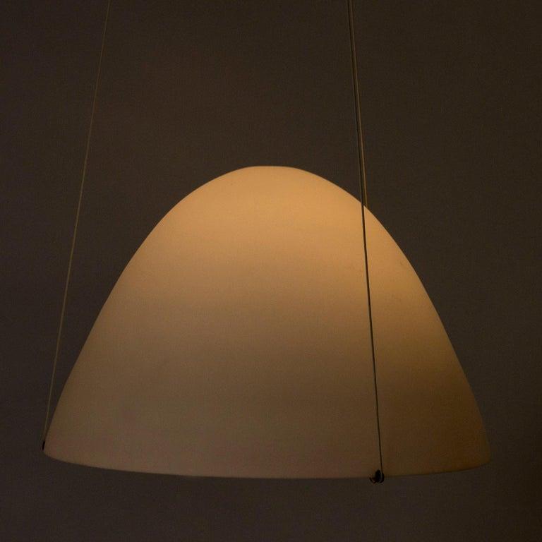 Scandinavian Modern Opaline Glass Ceiling Lamp by Bertil Brisborg For Sale